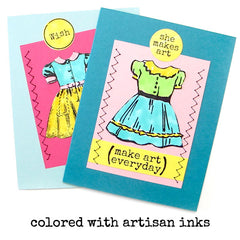 Donna Dress Rubber Stamp