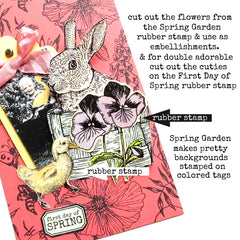 First Day Of Spring Petite Rubber Stamp