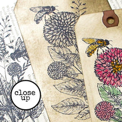 Bees in the Garden Rubber Stamp Save 10%