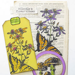 Garden Butterfly Rubber Stamp