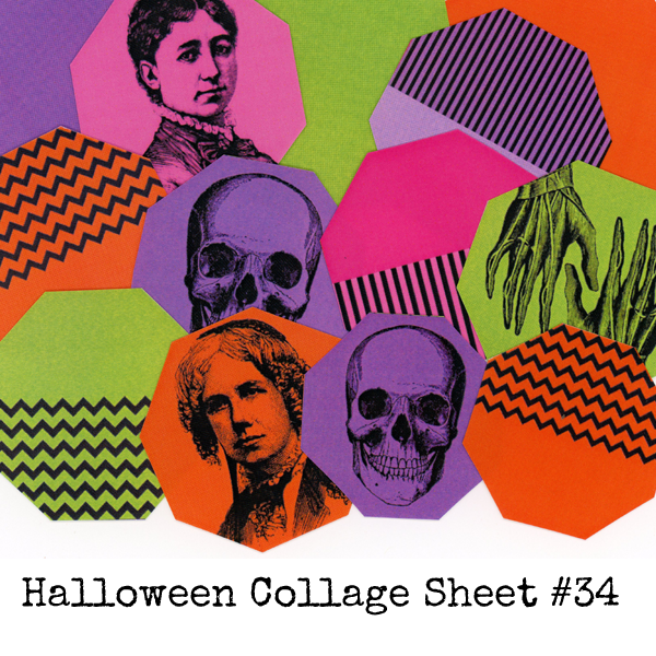 Halloween Collage Sheet 34