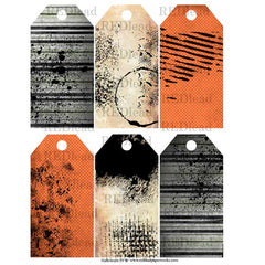 Halloween Collage Sheet 29 - Halloween Background Tags