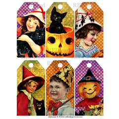 Halloween Collage Sheet 30  - Halloween Tags