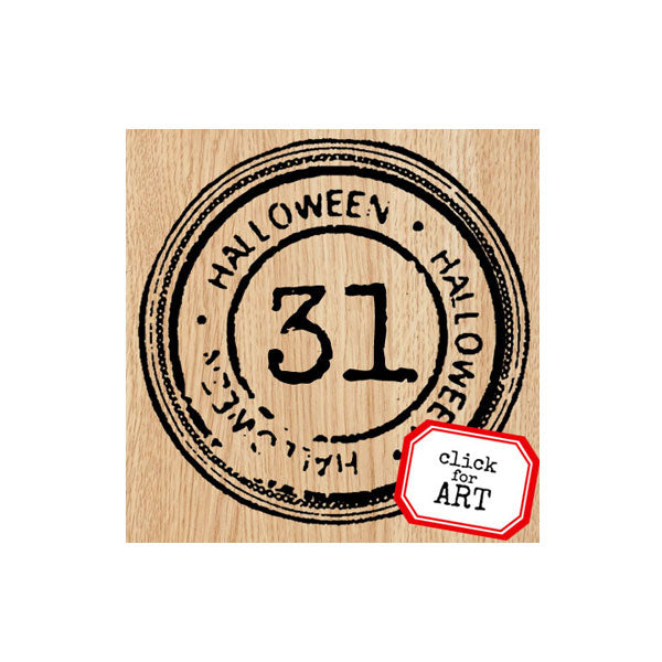 Halloween 31 Wood Mount Rubber Stamp