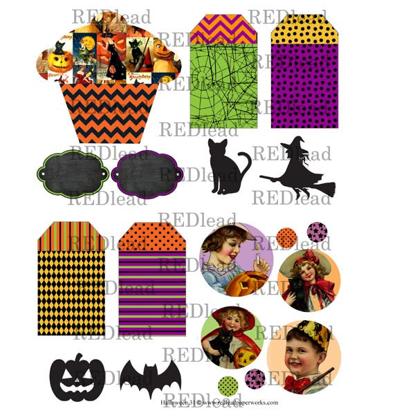 Halloween Collage Sheet 31