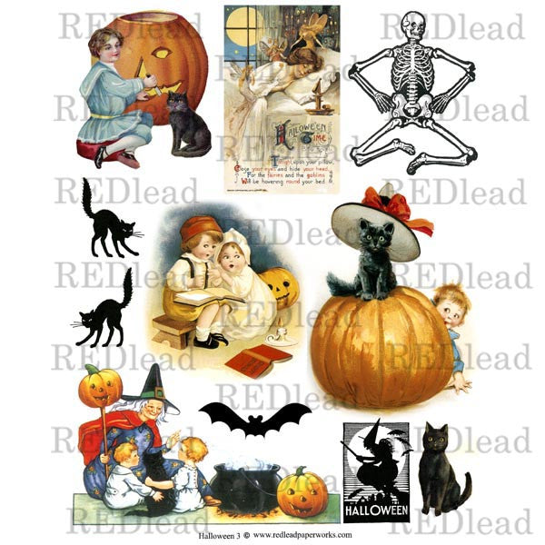 Halloween Collage Sheet 3