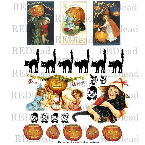 Halloween Collage Sheet 4