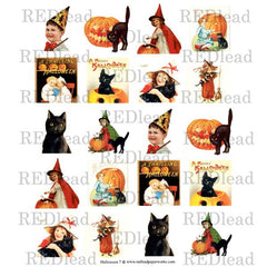 Halloween Collage Sheet 7