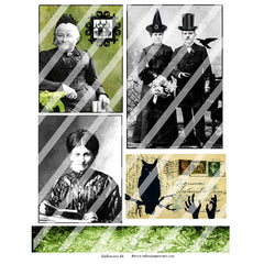Halloween Altered Photos Collage Sheet 84