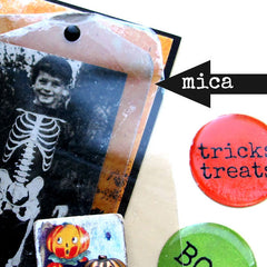 Close Up of Mica Halloween Artist Trading Card