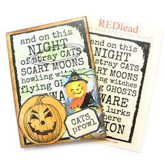 And On this Night Halloween Rubber Stamp