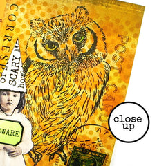 Woodland Owl Rubber Stamp