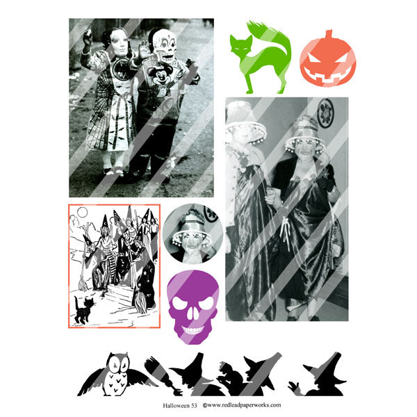 Halloween Collage Sheet 53