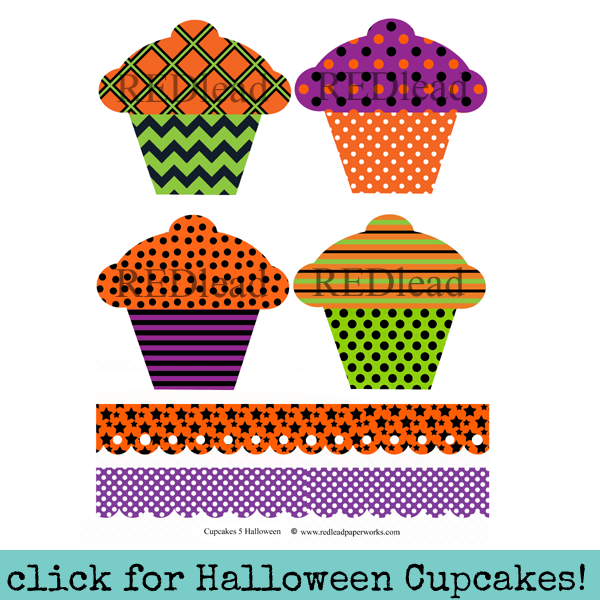 Cupcakes 5 Collage Sheet - Halloween Cupcakes!