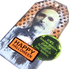 Happy Halloween Altered Art Tag