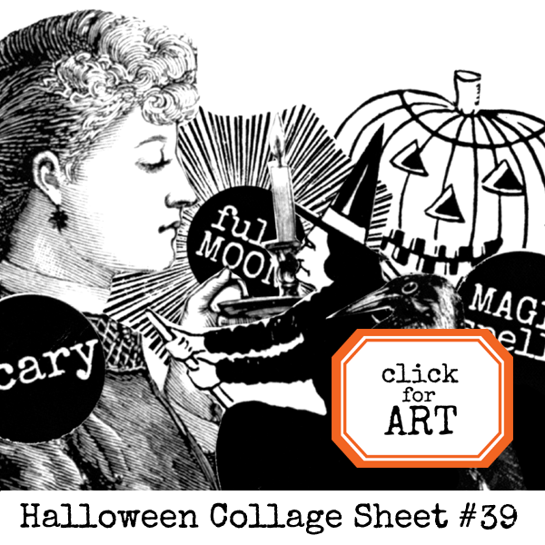 Halloween Collage Sheet 39 - Coloring Page