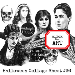 Halloween Collage Sheet 36 - Coloring Page