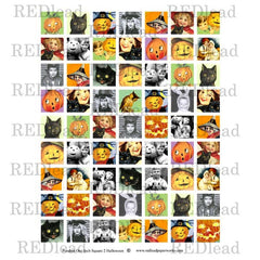 Halloween Pendant Square 2 Collage Sheet