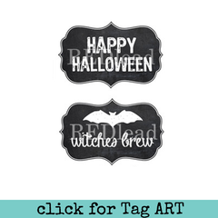 Halloween Rubber Stamp - Witches Brew - 2 cling mount stamps