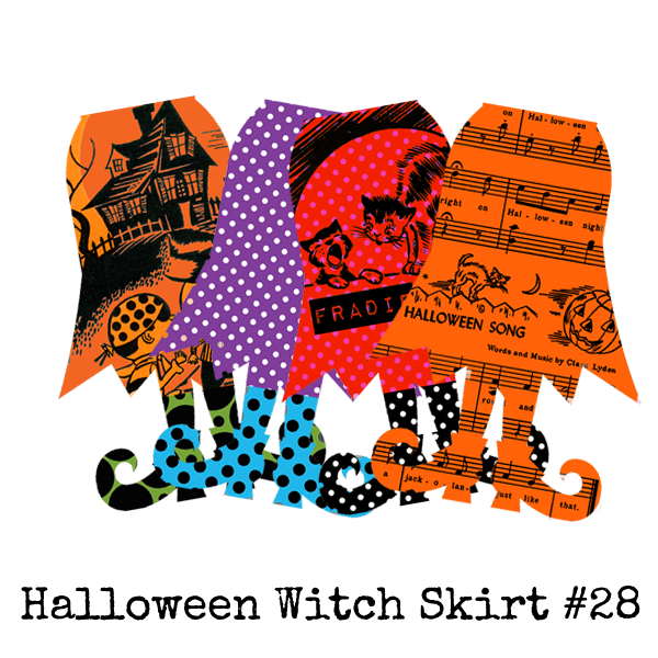 Halloween Collage Sheet 28 - Witch Skirts