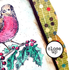 Christmas Rubber Stamp - Holiday Wishes Flying Your Way