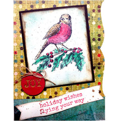 Holiday Wishes Flying Your Way Christmas Card