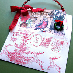 Christmas Rubber Stamped Envelope