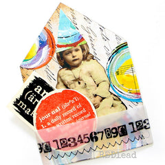 Mixed Media Numbers Wood Mount Rubber Stamp