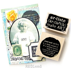 Artiste Make Art Wood Mount Rubber Stamp