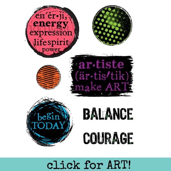 Artiste Make Art Mixed Media Rubber Stamp