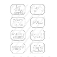 Joy to the World Christmas Little Labels Rubber Stamp