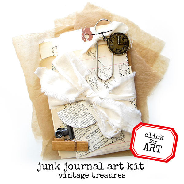 Vintage Treasures Junk Journal Art Kit