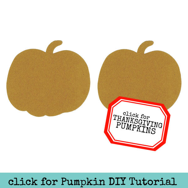 2 Large Chipboard Pumpkins Save 50%