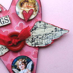 Handmade Valentine Heart with Wings