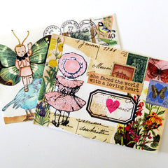 mail art collage envelope