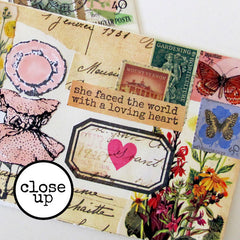 close up mail art collage