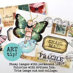 mail art collage envelopes