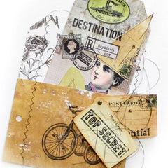 Top Secret Mail Art Rubber Stamp