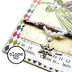 Close up Christmas Mixed Media Book Page