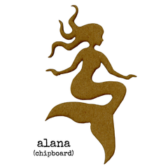Chipboard Mermaid Alana