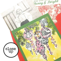 Merry and Bright Rubber Stamp Save 20%