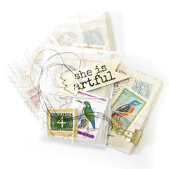 She Is Artful Wood Mount Rubber Stamp