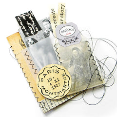 Stamp Some Tape Music & Script Rubber Stamp