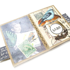 "Kraft Card Stock Mini Stitched Book 2-1/2"" x 3-1/2"""