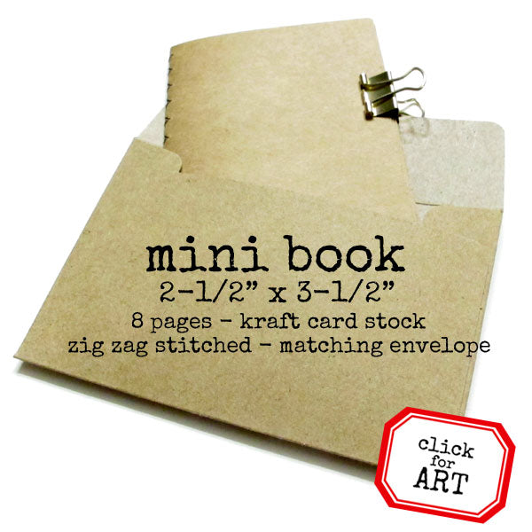 Kraft Card Stock Mini Stitched Book