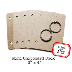 Mini Chipboard Book