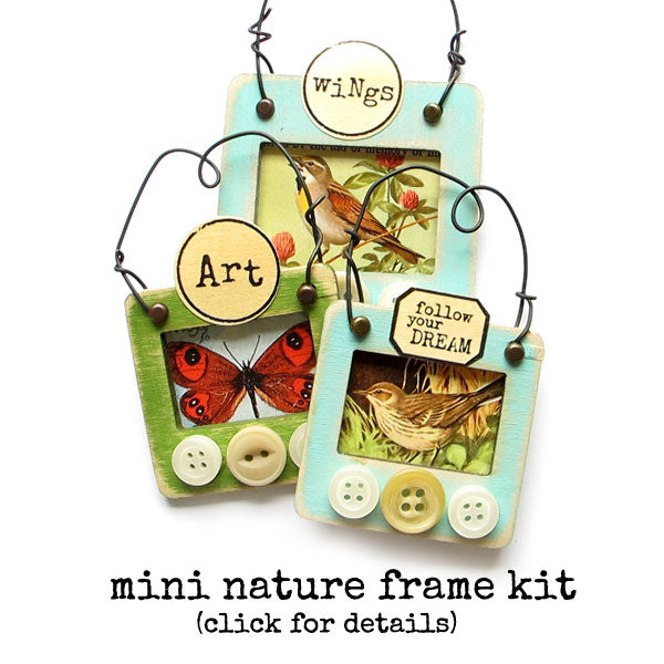 mini nature frame art kit
