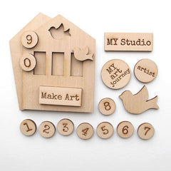 premium wood art kits