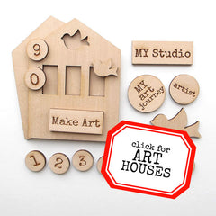 Make Art Wood Art House Kit
