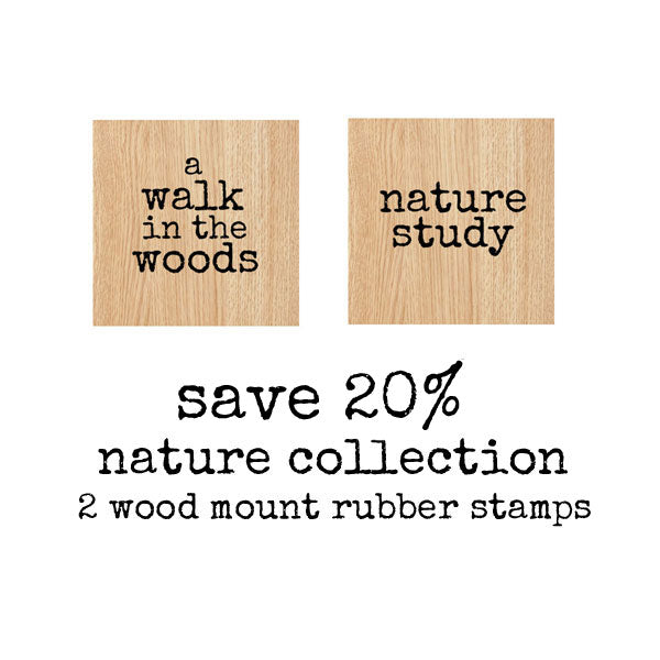 Nature Study Wood Mount Rubber Stamp Set  Save 20%